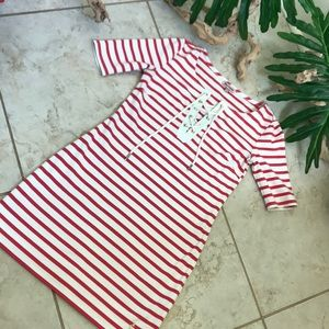 Juicy Couture tie front striped dress